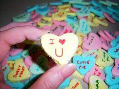 Homemade Valentine Conversation Hearts @Remodelaholic