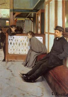 Waiting For Customers - Santiago Rusinol. Impresionismo