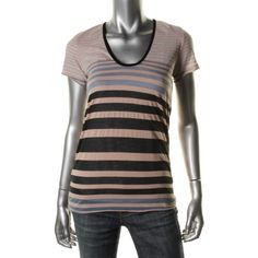 Fluxus Womens Striped Short Sleeves T-Shirt