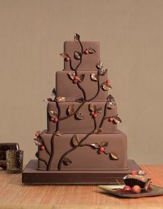 Seasonal Wedding Cakes, Autumn Wedding Cakes, Chocolate Wedding Cakes