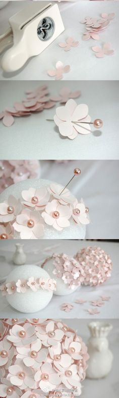How to Make a Pomander Flower Ball Tutorial: How to Make a Pomander Flower Ball Flores Bonitas de Papel Dibujo ?Tutorial: How to Make a Pomander Flower Ball Flores Bonitas de Papel Dibujo ? Diy Flowers, Paper Flowers, Budget Flowers, Wedding Flowers, Flower Diy, Flower Crafts, Fabric Flowers, Flower Ideas, White Flowers
