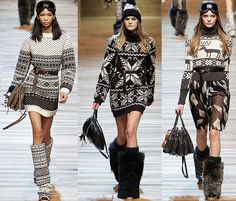 Great Norwegian-inspired fashion, Dolce & Gabbana 2010; Through the French eye of design: FAIR ISLE STYLE