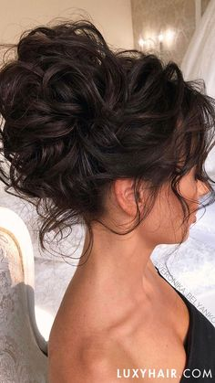 Wedding Hairstyles For Long Curly Hair Updos Ideas - 3 stunning updos that you can do yourself Bridesmaid Hair Updo, Bridal Hair Updo, Wedding Hair And Makeup, Diy Wedding Updos For Long Hair, Hair Updos For Weddings Guest, Messy Wedding Updo, Wedding Hair Tips, Prom Hair Updo, Curly Wedding Hair
