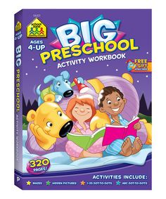 Look at this #zulilyfind! Preschool Big Activity Workbook by School Zone #zulilyfinds