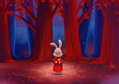 """En el bosque rojo"" Estudio de color para Illustraciones para niños por Albert Cordero -------------------------------------------------------- ""On the Red Forest"" Color study for Children Illustration by Albert Cordero -------------------------------------------------------- ""Dans la Forêt Rouge"" Étude de la couleur pour Illustration Jeunesse par Alberto Cordero"