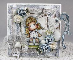 OOAK Handmade Magnolia Card
