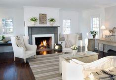 Fireplace, shabby