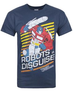 Official Transformers Robots In Disguise Men's T-Shirt  #Official