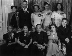 Hugh Mulzac, the first African-American captain in the U.S. Navy to command an integrated crew during World War II, with his family at a 1940s dinner in his honor. Paul Robeson spoke and Hazel Scott performed during the evening.