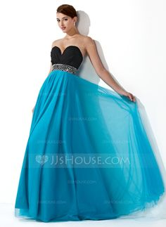 Prom Dresses - $154.49 - Empire Sweetheart Floor-Length Chiffon Tulle Prom Dress With Ruffle Beading Sequins (018004900) http://jjshouse.com/Empire-Sweetheart-Floor-Length-Chiffon-Tulle-Prom-Dress-With-Ruffle-Beading-Sequins-018004900-g4900?pos=ultimately_buy_5