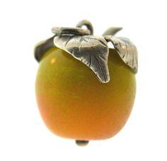 Vintage Danecraft Sterling Silver Apple Charm