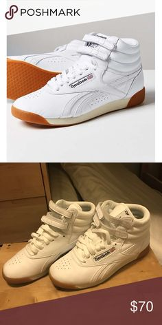 Reebok freestyler hi Fitness High top classic reeboks, so cute just got them as a gift but they're too small for me. Reebok Shoes Sneakers