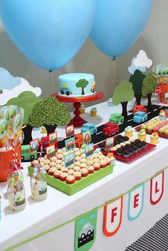 2nd Birthday Boys, Second Birthday Ideas, Birthday Themes For Boys, Car Themed Parties, Cars Birthday Parties, Transportation Birthday, First Birthdays, Decoration, Bernardo