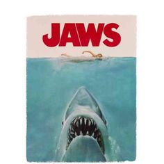 Jaws Movie Poster 40Th Anniversary Officially Licensed Adult Black T-Shirt