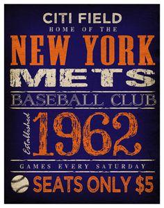 New York Mets Print Citi Field Poster