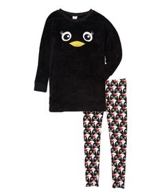 Loving this MJC USA Black Penguin Critter Pajama Set - Juniors on #zulily! #zulilyfinds