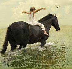 Crianca e cavalo