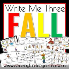 Write me three FALL pack with a freebie | writing lessons | printable packs | learning to write | literacy activities | kindergarten