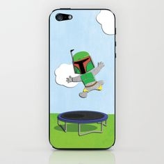 Star Wars Kids - Boba Fett Jump iPhone & iPod Skin by Nixon Graphix - $15.00