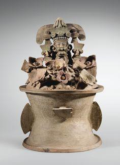 ENCENSOIR EN DEUX PARTIES CULTURE TEOTIHUACÁN VALLÉE DE MEXICO, MEXIQUE CLASSIQUE, 450-650 AP. J.-C..