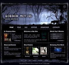 Horror Movie Flash Templates by Big mama