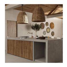 Kitchen Interior, Home Interior Design, Interior Architecture, Villa Interior, Balinese Interior, Design Interiors, Casa Wabi, Sweet Home, Beton Design