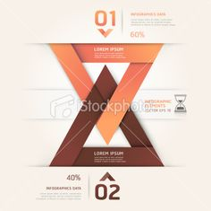 Abstract sand clock Infographics origami style. Royalty Free Stock Vector Art Illustration