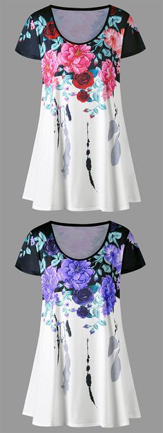 summer outfits_Floral Longline T-shirt