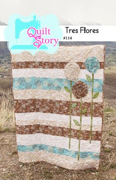 Tres Flores PDF Quilt Pattern by QuiltStory on Etsy, $9.00