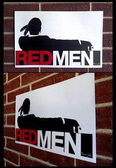 RED MEN - mad men.. $20.00, via Etsy.