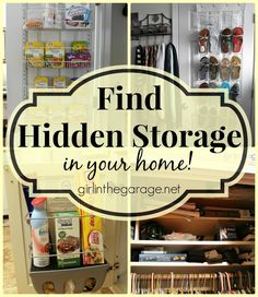 Find Hidden Storage in Your Home: Tips for Maximizing and Organizing Your Space I girlinthegarage.net