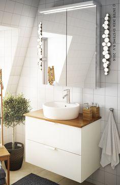 Een originele en moderne badkamer. Kast voor wastafel GODMORGON #IKEABE An original and modern bathroom. Sink cabinet GODMORGON #IKEABE