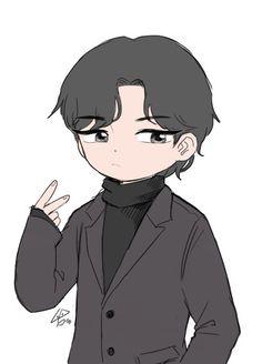 Bts Chibi, Bts Memes, Taehyung, Fanart, Anime, Drawings, Fan Art, Cartoon Movies, Anime Music