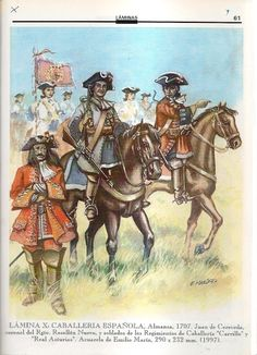 Kawaleria hiszpańska 1707