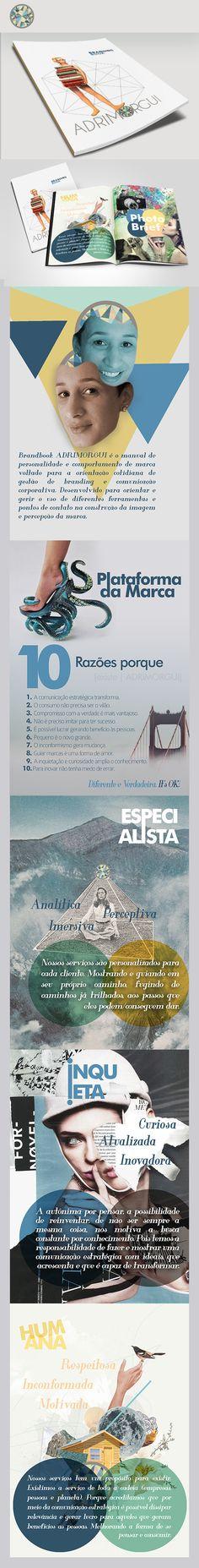 Brandbook.  Projeto de construção de marca - responsável: Adriana Guimarães.  Designer do Brandbook: Andre Camargo.