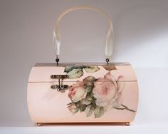 1960's Pink Roses Decoupage Box Bag by Willie by TheVelvetFirefly, $82.00