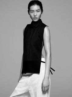 Liu Wen photographed by Joachim Mueller Ruccholtz for Rika #10.