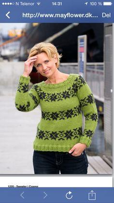 Islandskinspirert genser