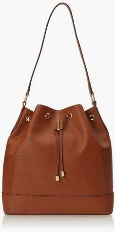 Calvin Klein Saffiano Drawstring Shoulder Bag