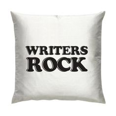 WRITERS ROCK Cushion/Pillow 18 by Studio2006 on Etsy