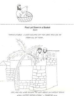 Paul Let Down in a Basket