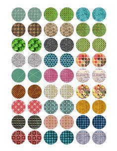 Rhapsodie Patterns Digital Collage feuilles 1 par MobyCatGraphics