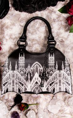 Gothic Skyline Bag-Accessories-Banned Apparel-Tragic Beautiful 472a955ad12c5