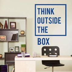 office wall decal. Think Outside The Box Office Wall Decal