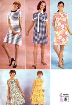1969 shift dresses...