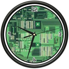 COMPUTER CIRCUIT BOARD Wall Clock geek hardware gift coupon| Games Information