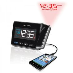 NEW and in stock!  AcuRite Atomic Projection Clock with USB Charger  $39.99 Get yours today:  http://www.acurite.com/atomic-projection-alarm-clock-with-usb-charging-13021.html