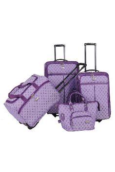 4-Piece Signature Luggage Set in Light Purple