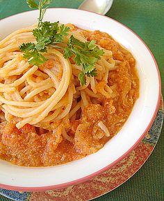 Spaghetti In Tomato-Yogurt Sauce
