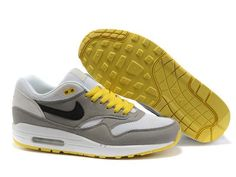 new arrival ca89d e5a21 Latest Listing Cheap Mens White Medium Grey Maize Nike Air Max 1 The Most  Flexible Shoes